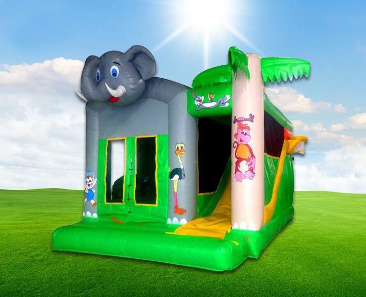 Elephant combi bouncing castle